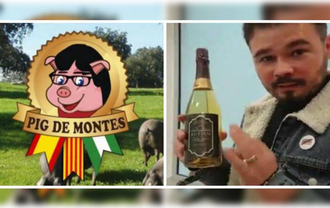 La empresa denunciada por Puigdemont por vejaciones dedica un nuevo vino a Gabriel Rufián