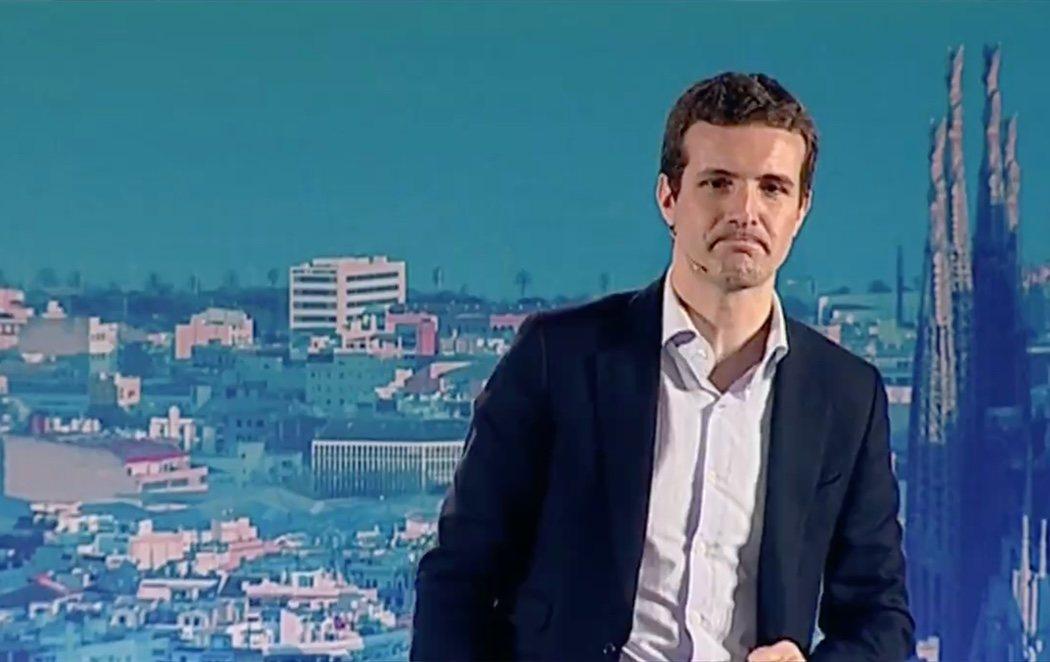 """Casado llama """"desequilibrado"""" a Torra y pide intervenir la Generalitat y controlar los Mossos"""