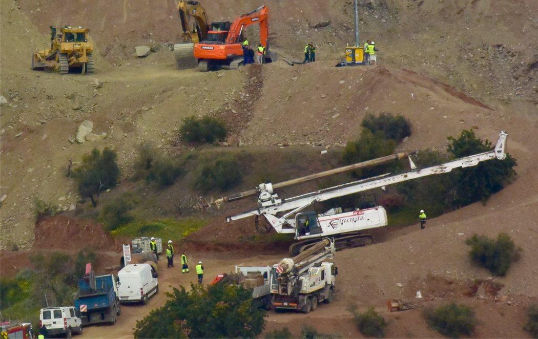 Rescate de Julen: Ya se ha excavado más de la mitad del túnel vertical