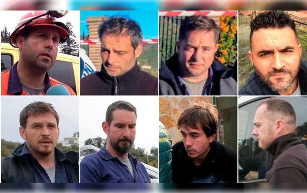Los ocho mineros encargados del rescate de Julen