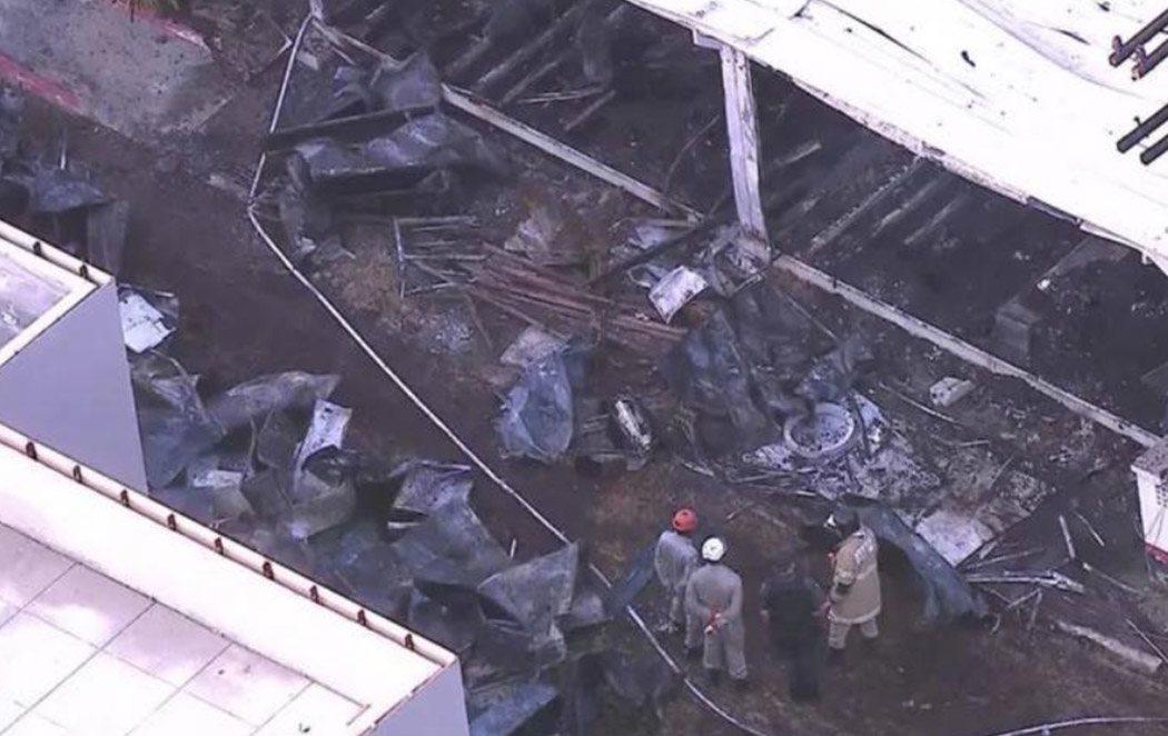 Diez muertos en un incendio en el centro de entrenamiento del Flamingo