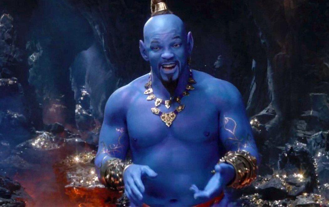 Un Will Smith azul se convierte en Genio en el nuevo tráiler de 'Aladdín'