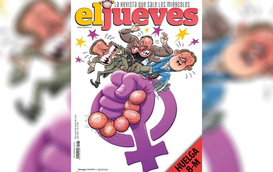 El feminismo coge por los huevos a Casado, Abascal y Rivera en la nueva portada de 'El Jueves'