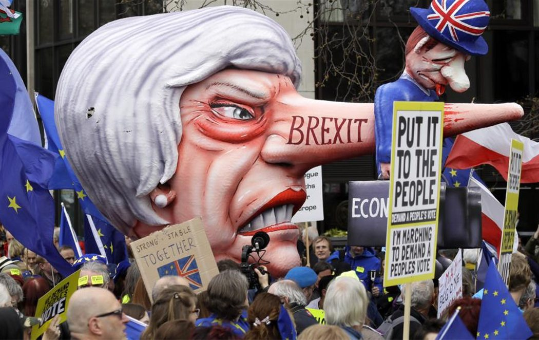 Un millón de manifestantes claman en Londres otro referéndum sobre el Brexit