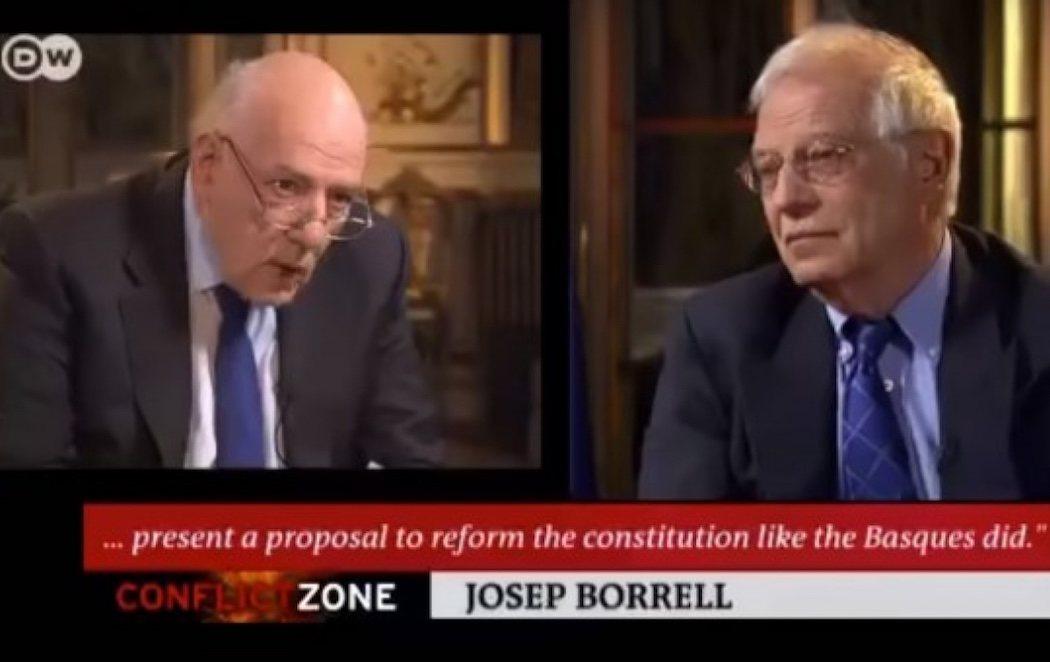 """Borrell corta una entrevista en la televisión alemana por las preguntas """"sesgadas"""" del periodista"""