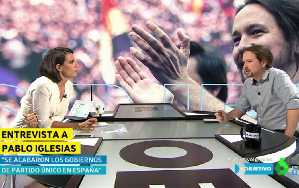 """La tensa entrevista de Ana Pastor a Pablo Iglesias: """"No quería interrumpir sus preguntas con mis respuestas"""""""
