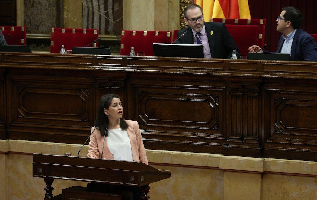 El Parlament censura a Inés Arrimadas por recordar las frases xenófobas de Torra