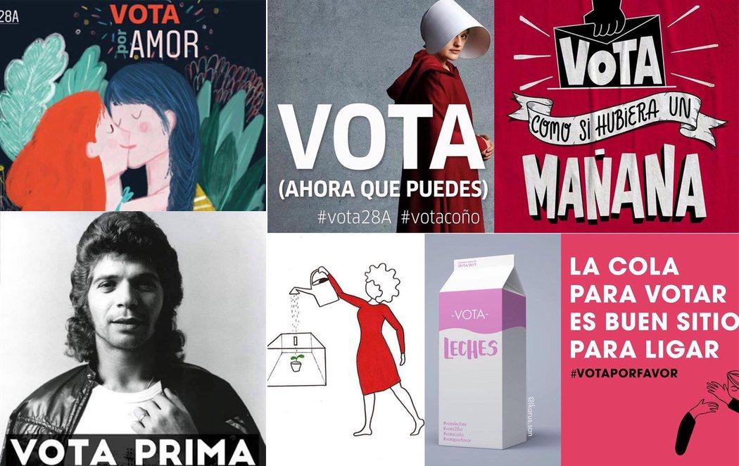 Campaña masiva llamando a la participación en las elecciones generales del 28A