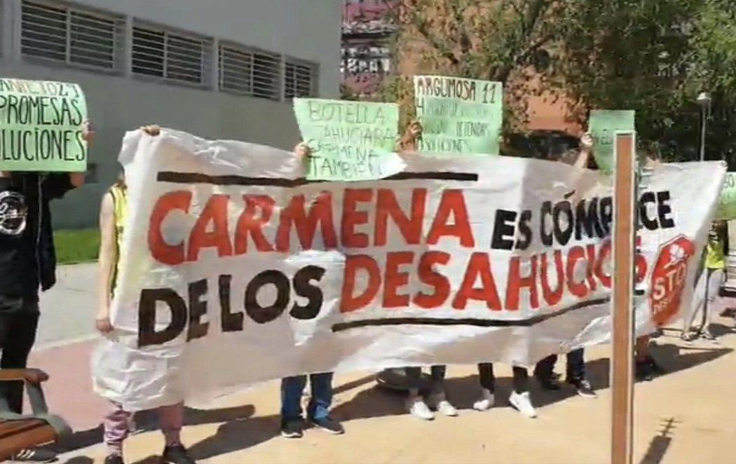 Stop Desahucios organiza un escrache contra Carmena