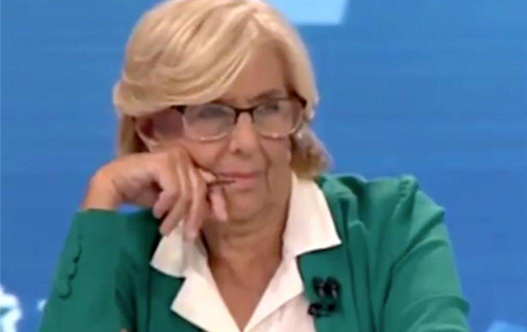 La reacción de Carmena ante los disparates de Ciudadanos en el debate de Telemadrid