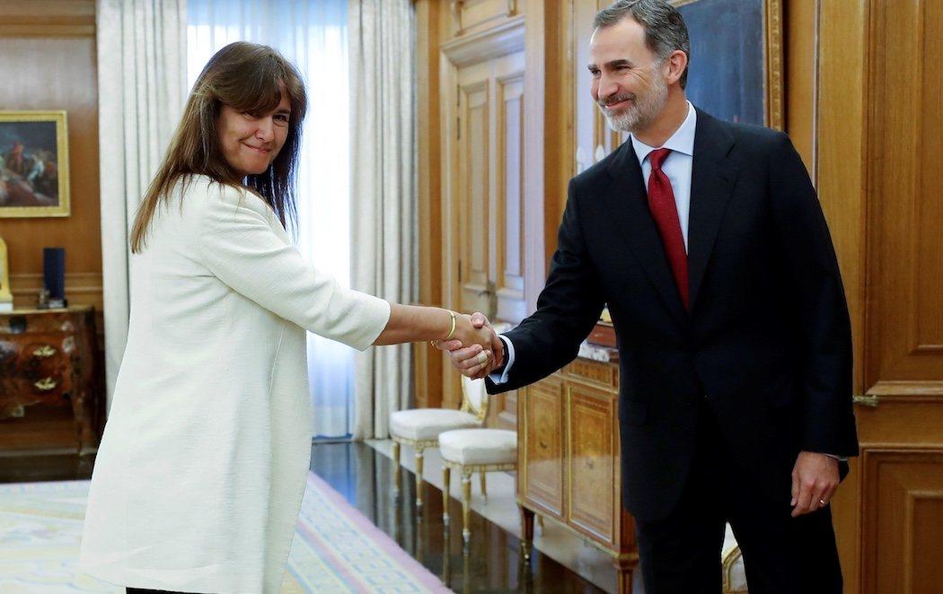 """Laura Borrás (JuntsXCat) se reúne con Felipe VI y le dice que """"los catalanes no tenemos rey"""""""