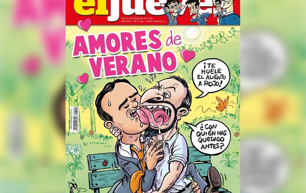 El Jueves ilustra su revista con Abascal y Rivera en pleno idilio romántico