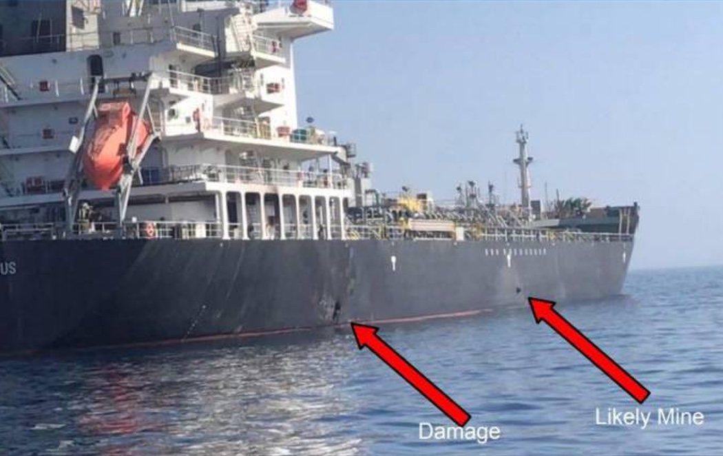 EEUU publica un vídeo que probaría el ataque de Irán a dos petroleros del Golfo de Omán