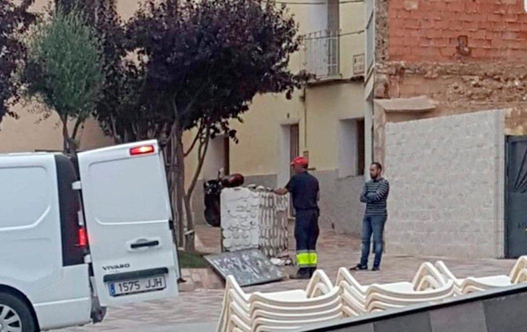 VOX retira un busto de Abderramán III de un pueblo de Zaragoza
