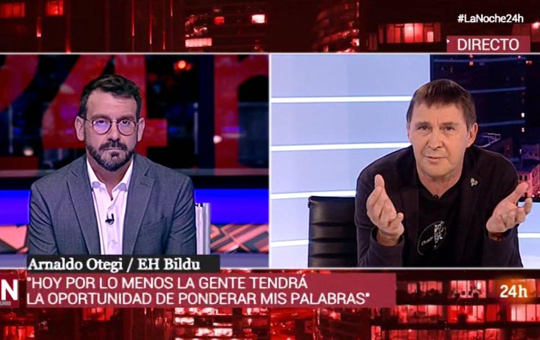 Polémica por la entrevista de Arnaldo Otegi en TVE: se niega a condenar a ETA