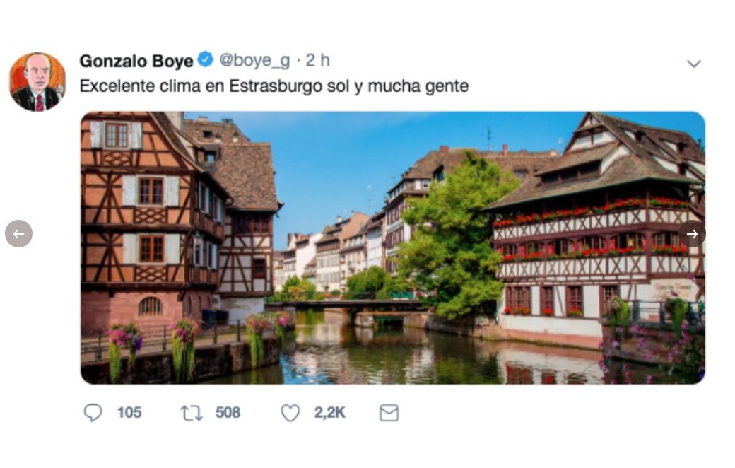 Las redes se ríen de la foto de Estrasburgo robada de Google que compartió el abogado de Puigdemont