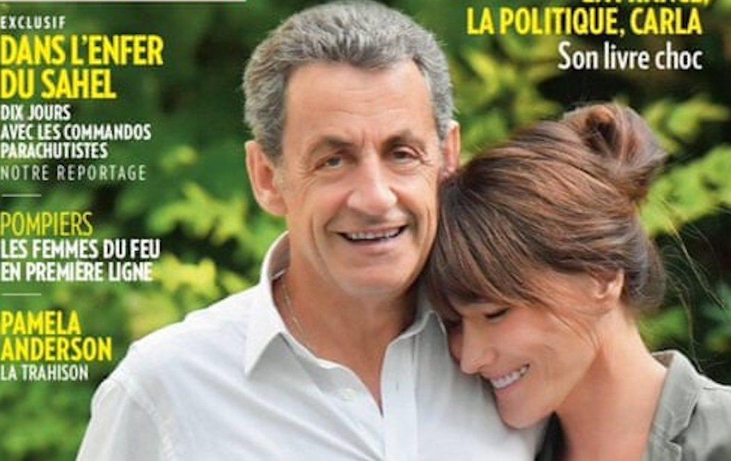 La portada en la que Sarkozy intenta aparentar ser más alto que Carla Bruni