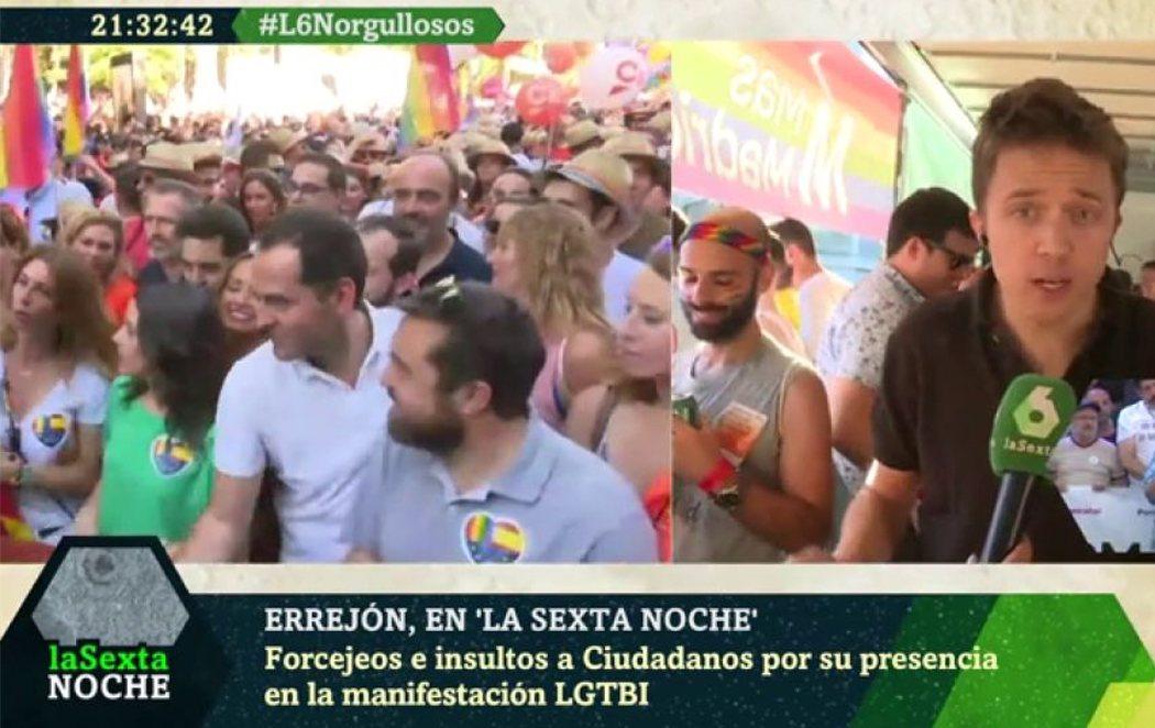 Errejón critica la presencia hipócrita de Ciudadanos en el Orgullo LGTBI de Madrid