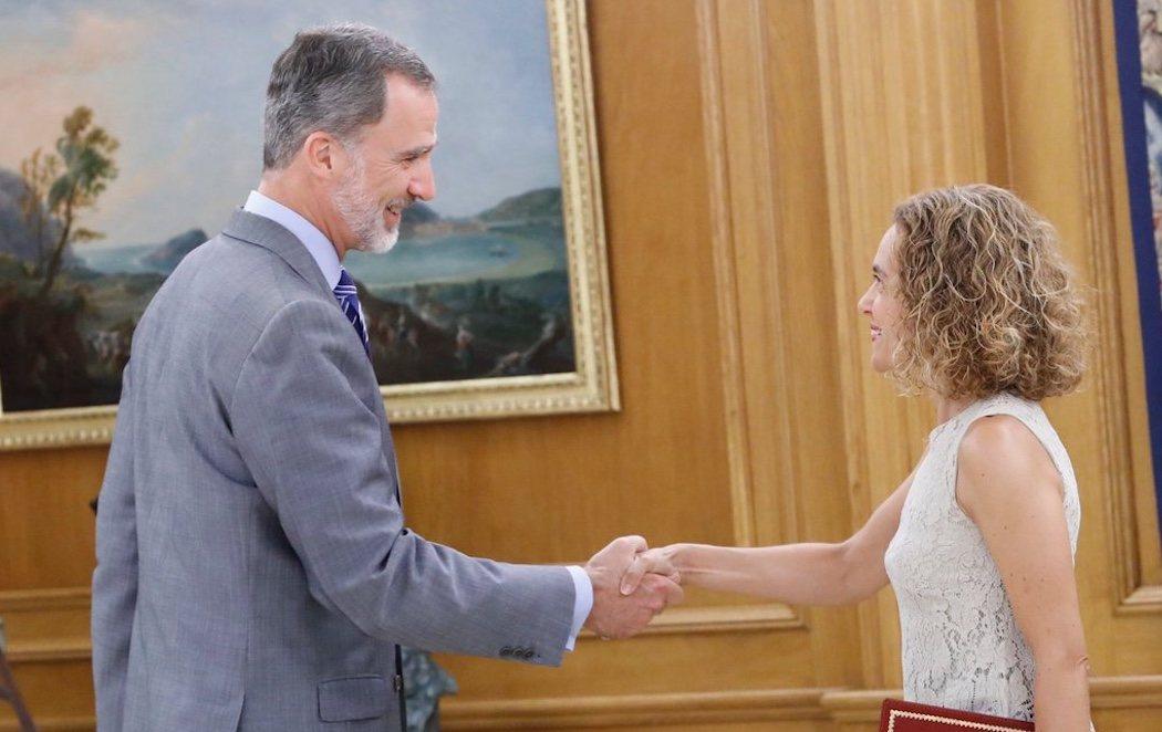 Meritxell Batet comunica de forma oficial al rey la investidura fallida de Pedro Sánchez