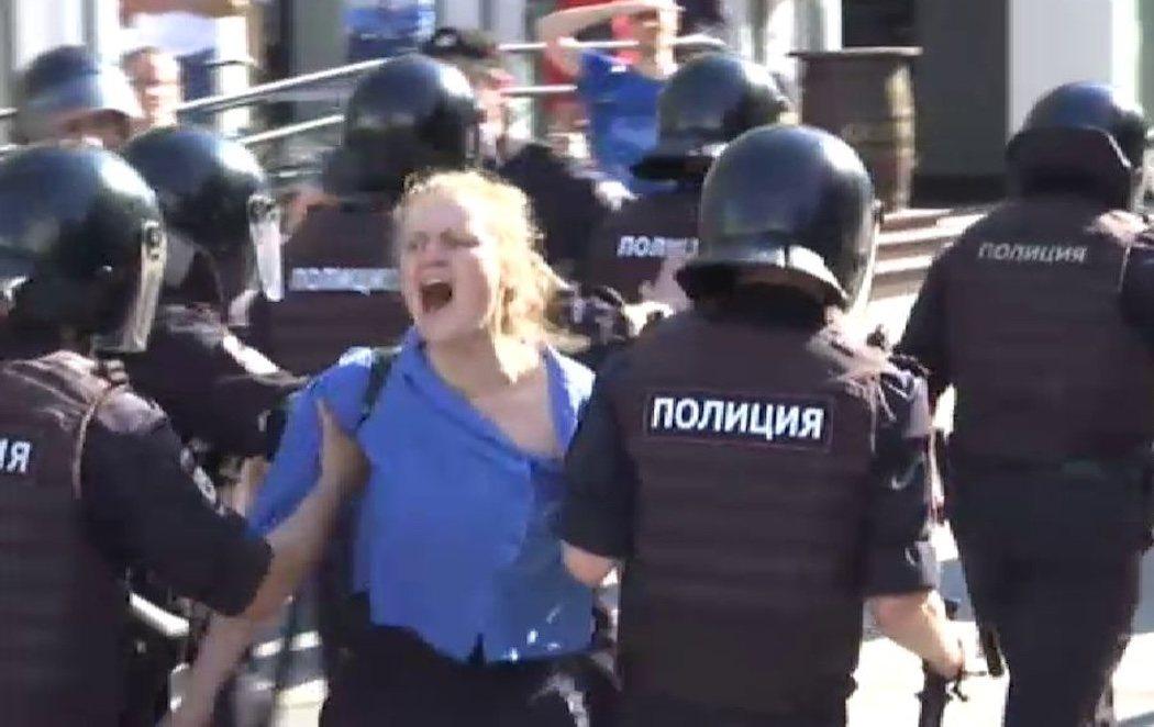 Más de 1.300 detenidos en Moscú en la mayor protesta política rusa de los últimos años