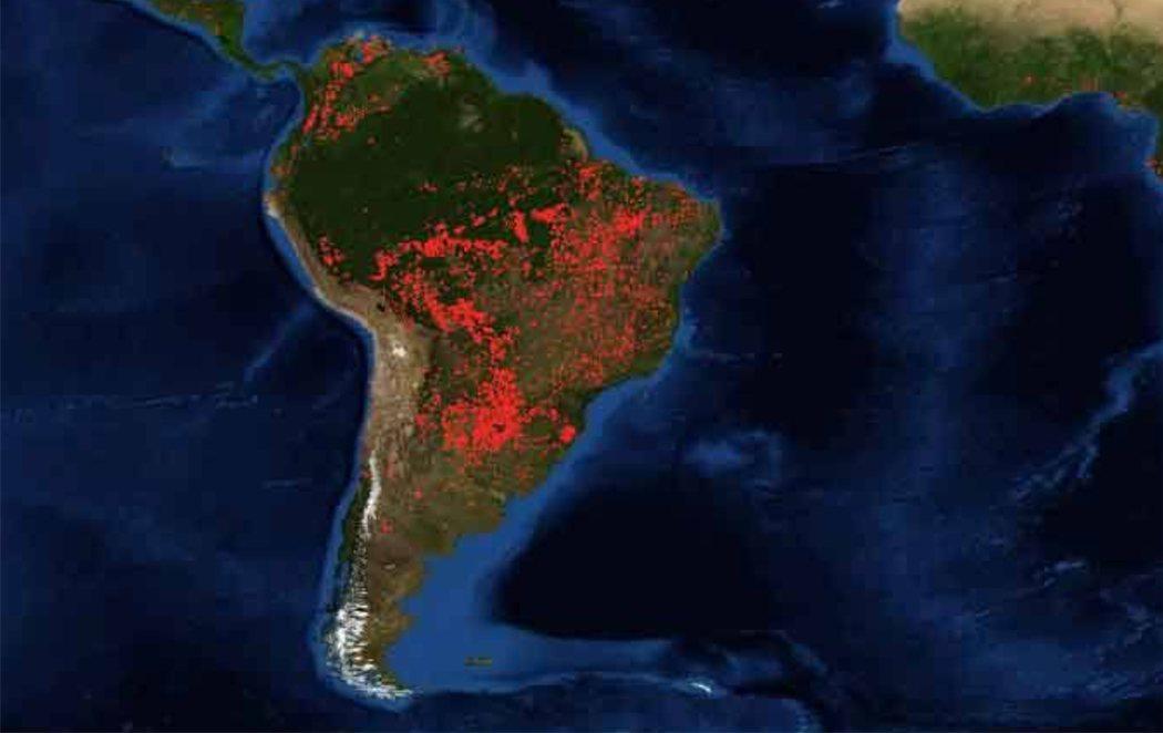 La impactante foto de la NASA de los incendios en la Amazonia