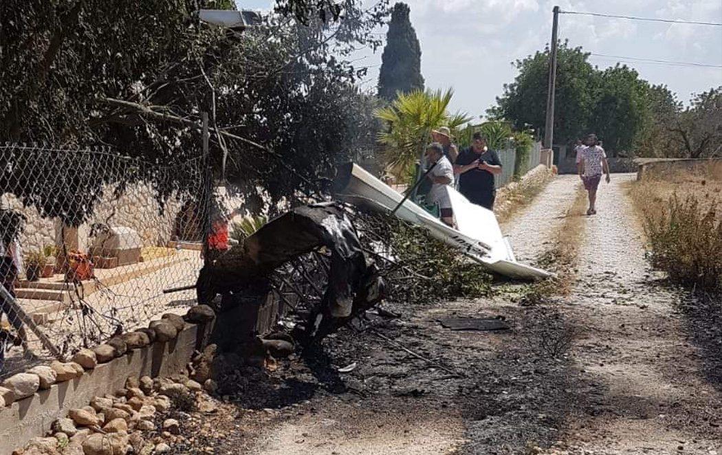 Siete muertos tras chocar un helicóptero y una avioneta en el aire en Mallorca