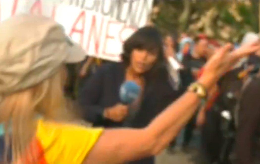 Una periodista de TVE, agredida durante los actos de la Diada en Barcelona