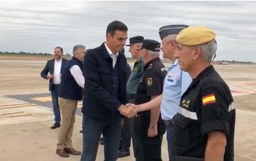 Pedro Sánchez visita las zonas afectadas por la gota fría en Alicante y Murcia