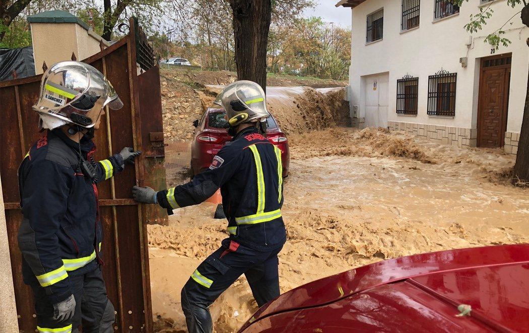 La DANA vuelve a inundar por completo Arganda del Rey (Madrid) mientras se dirige hacia el norte