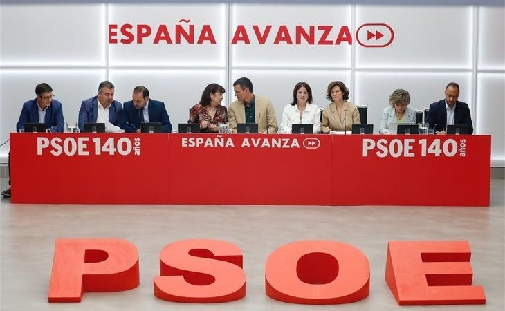 """Reunión de la Ejecutiva del PSOE: """"Nos han robado el voto"""""""