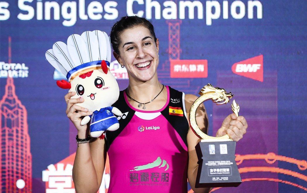 Carolina Marín gana el Abierto de China tras su grave lesión