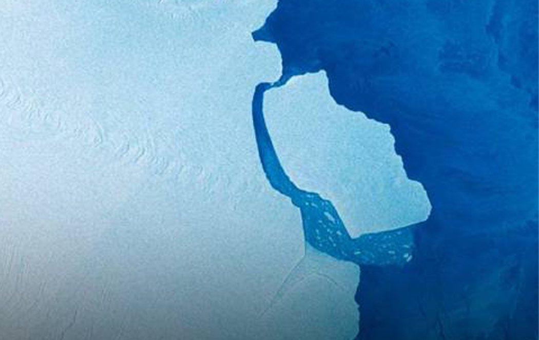 Un iceberg del tamaño de Gran Canaria se desprende de la Antártida