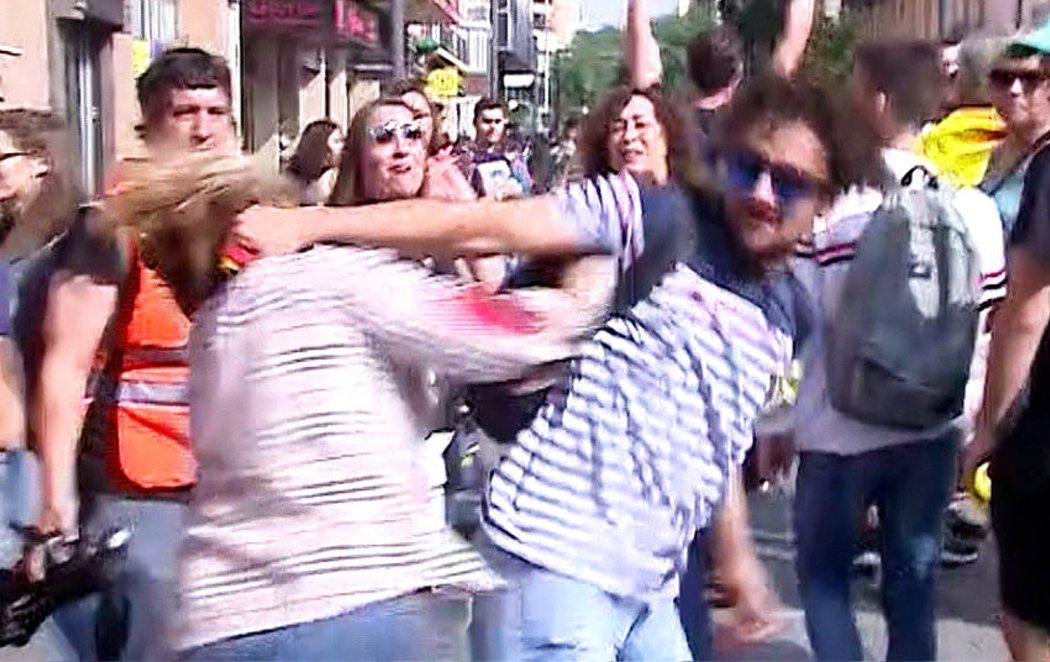 Primeras protestas y agresiones en Cataluña por la sentencia del procés