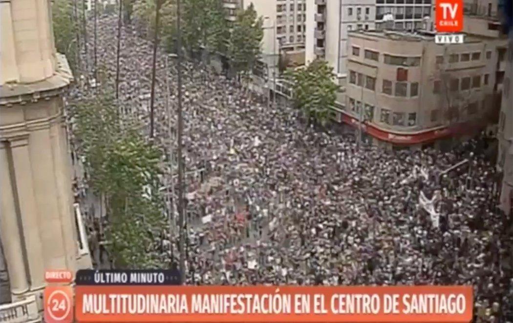 Histórica concentración en Chile con más de un millón de manifestantes