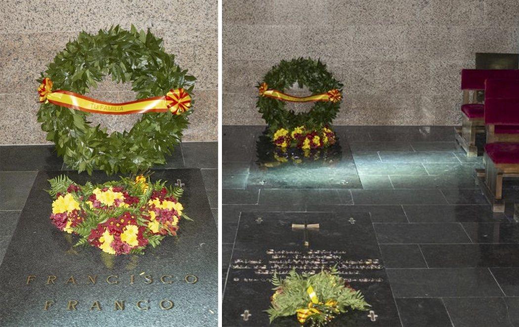 El Gobierno publica las fotos de la nueva tumba de Franco en Mingorrubio