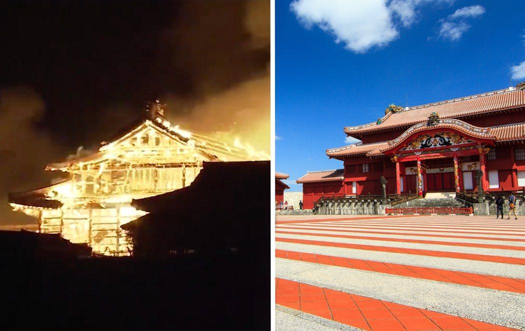 Arde en llamas el castillo de Naha en Okinawa, Patrimonio de la Humanidad con 500 años de historia