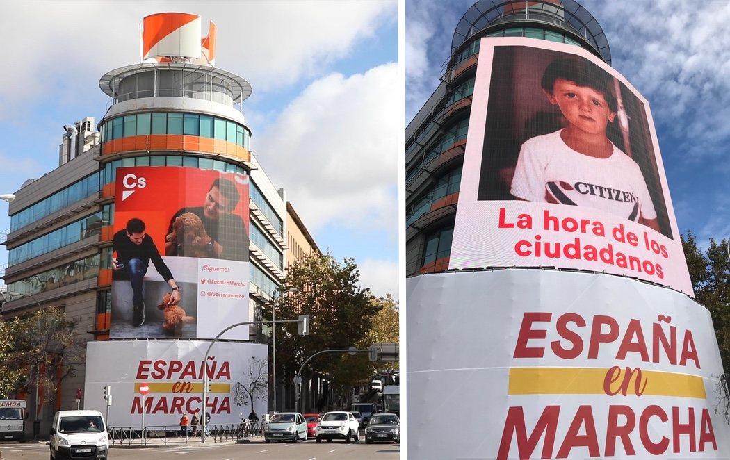 Surrealismo en Ciudadanos: ilustra su sede con una foto de Rivera de niño tras retirar al caniche Lucas