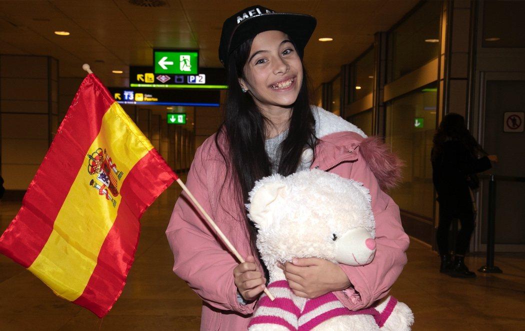 Melani regresa a España para celebrar su tercer puesto en Eurovision Junior 2019