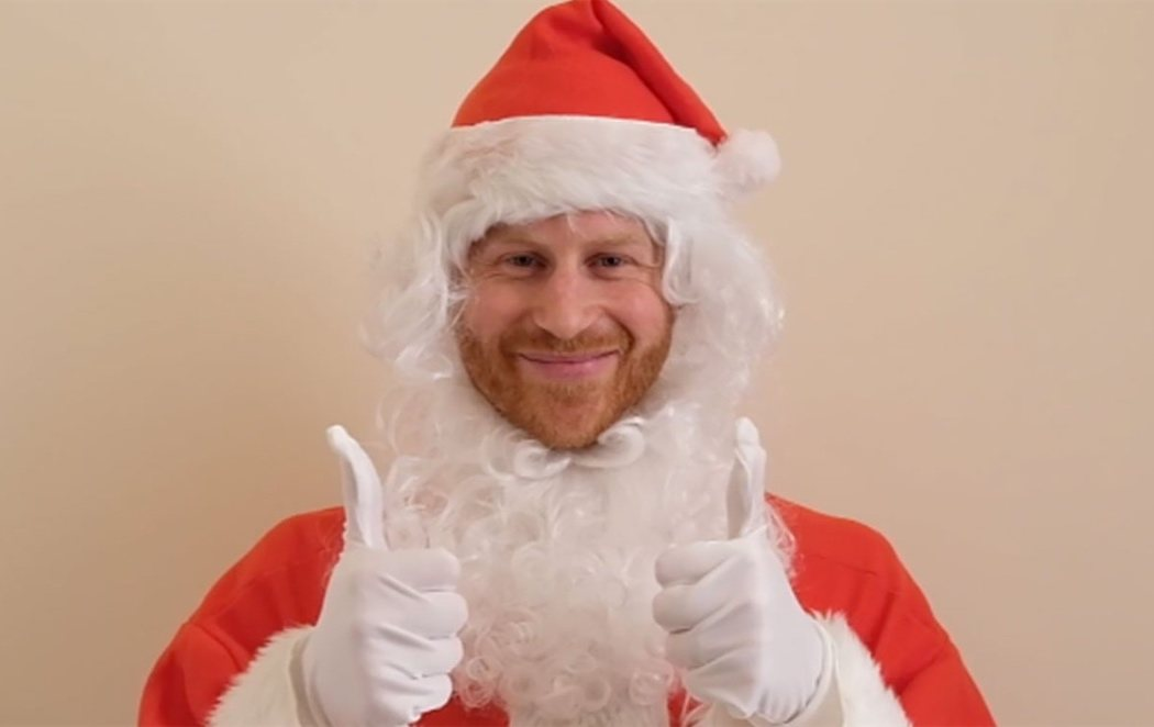 El príncipe Harry se convierte en Papá Noel por una buena causa