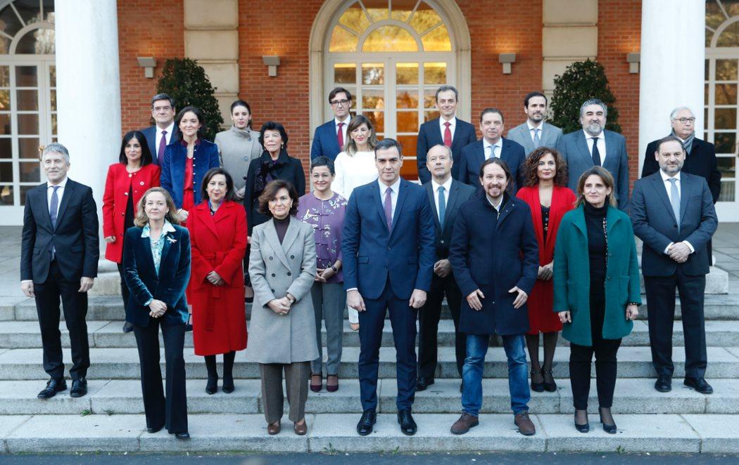 Primer Consejo de Ministros y Ministras del nuevo Gobierno de coalición