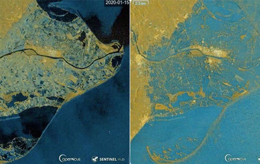 Catástrofe medioambiental en el Delta del Ebro: gran parte, engullido por el temporal Gloria