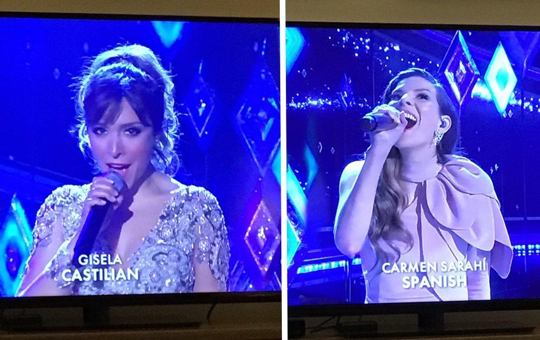 """Polémica en los Oscar: Gisela cantó en """"castellano"""" y una intérprete mexicana en """"español"""""""