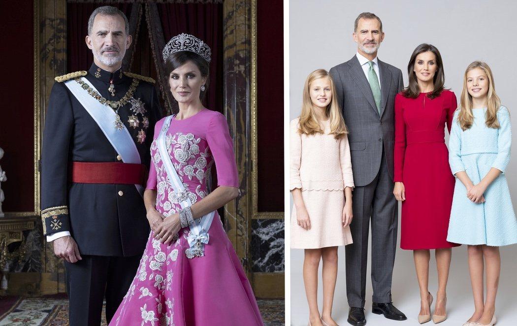 Casa Real difunde los primeros retratos oficiales de Felipe y Letizia como reyes