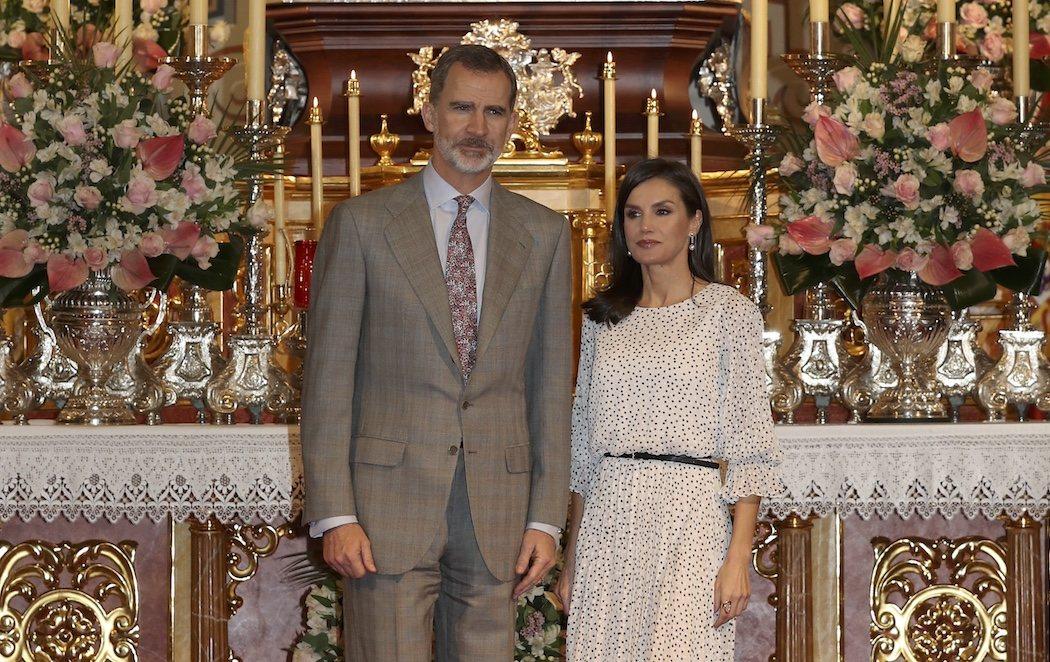 Los reyes visitan a la Virgen del Rocío