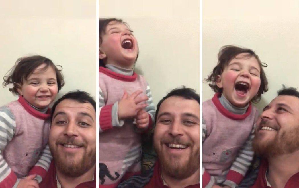 '¿Avión o bomba?': el juego con el que este padre sirio combate el miedo de su hija