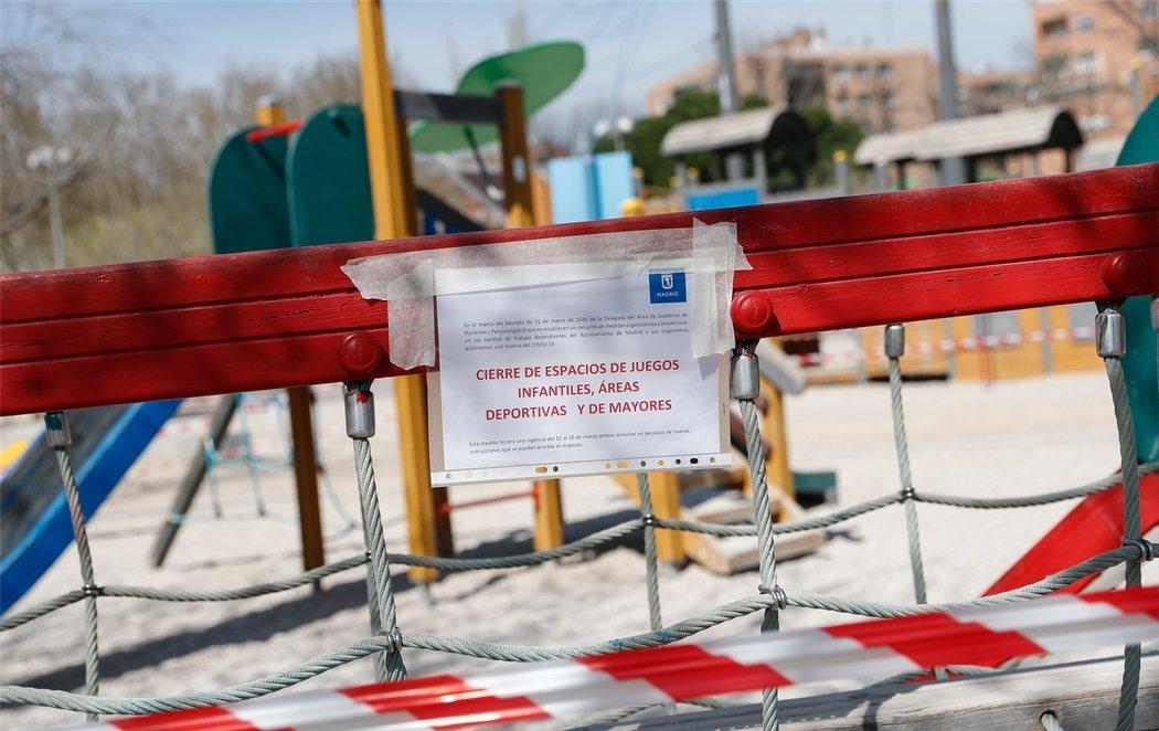 Los parques de Madrid, completamente cerrados por el coronavirus