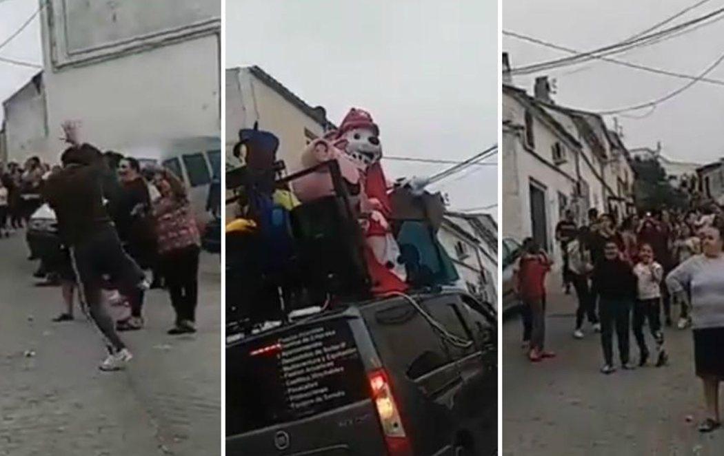 Vecinos de Beas de Segura, en Jaén, se saltan el confinamiento para celebrar una fiesta en la calle