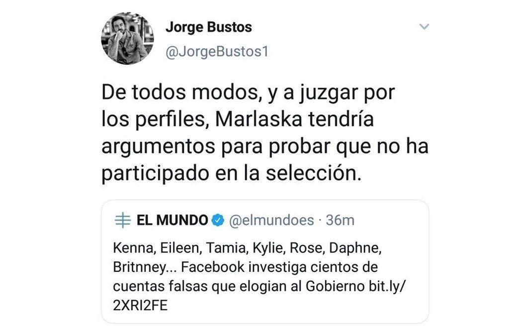 El homófobo mensaje de Jorge Bustos, jefe de opinión de El Mundo, contra Marlaska