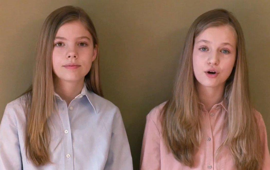 """El mensaje de la princesa Leonor y la infanta Sofía: """"Llevamos como todos los niños más de un mes en casa"""""""