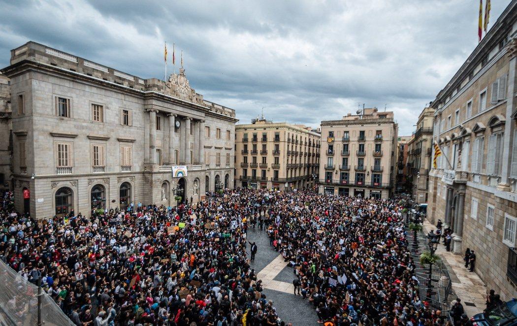 Multitudinarias manifestaciones en toda España en el marco del movimiento 'Black Lives Matter'